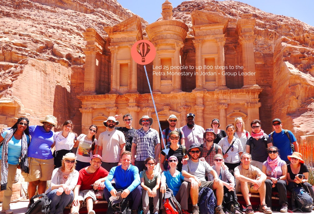 Group Leader - Hike Petra Monestary Jordan