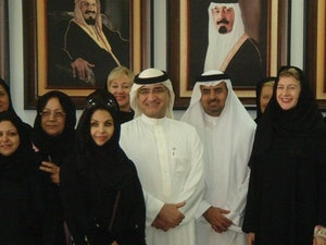 Fiona Hill in Saudi Arabia