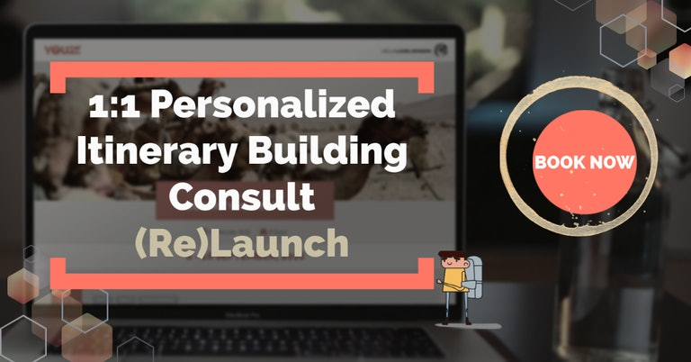 1:1 Personalized Itinerary Building Consult (Re)Launch