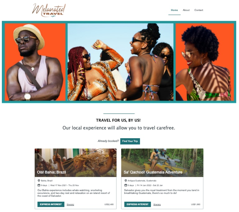 Melanated Travel Plug-and-Play website by YouLi